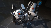 Prerelease screenshot of Atlas and P-Body.