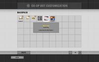 A interface da mochila.