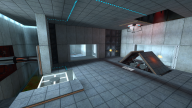 The Test Chamber as it appears in Portal