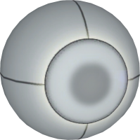 A spherical replacement seen in an advanced chamber.