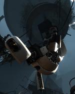 Probuzená GLaDOS v Portalu 2
