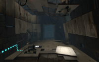 An Energy Pellet launcher and catcher in Portal 2's Chamber 7