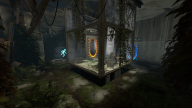The degraded first Test Chamber from Portal