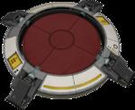 Aktiivinen lattiapainike Portal 2-pelissä.