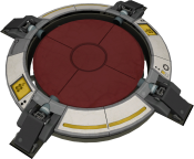 Un gigabouton d'extracollision activé dans Portal 2