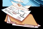 Одна из страниц файла Челл в комиксе «Лабораторная крыса»