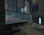 A larger Emancipation Grill, used in a test chamber in Portal 2